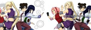 Konoha kunoichi's Before and After by Uchiha-Umeko