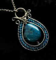 Blue Soho Jasper pendant by OlgaC