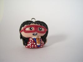 Ugly Betty Clay Pendant by sweet-geek
