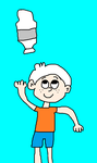 Lincoln Loud Doing a Water Bottle Flip by MikeEddyAdmirer89