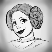 RIP Carrie Fisher by AnnaKitsun3