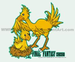 FF_Chocobos by AnitsircCAF