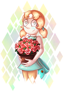 Pearl the gardener by SheriBonBon