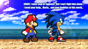 SMBGX Fake Screenshot 01 - Sonic need some help... by KingAsylus91