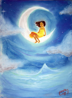 0208- Girl on the Moon by divi
