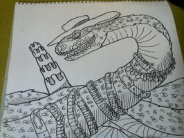 rattlesnake jake pencil drawing by noonfeather