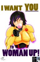 Gogo Wants you to Woman up! by DStevensArt