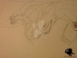 HTTYD OCs: Terrible Terror Chase -sketch- by BlackDragon-Studios