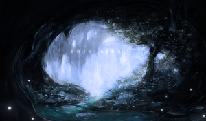 Secret Cave by aikaparanoid