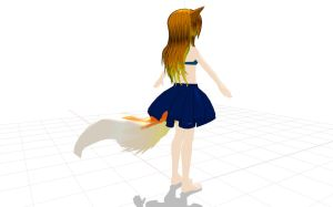 .:MMD:. Ember has a tail now! 8D by Miku-Nyan02
