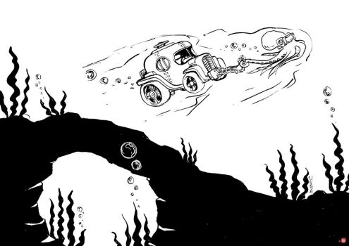 INKTOBER 2016 Day 27: From The Deep by CWingSyun