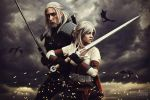 Geralt and Ciri Cosplay! The Witcher 3 by AstronSama