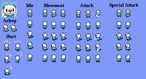Oshawott - PMD custom sprites by PowerCristal
