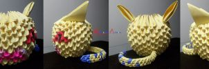 3D Origami - Nyaromon by Jobe3DO