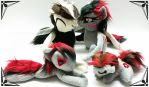 Plush set by Catzilerella