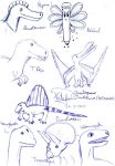Dinosaurs and...Nacil? by Dino-drawer