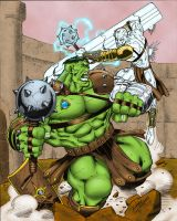 Planet Hulk vs Silver Savage by statman71