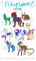 Adoptables 3 by lunedragonfly
