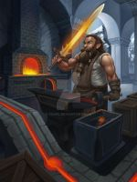 Blacksmith by Saarl