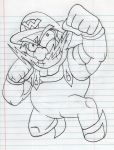 Wario sketch by Yojama