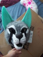 Shyra fursuit head WIP by AlieTheKitsune