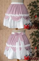 Cream raspberry -Lolita Skirt- by Navika