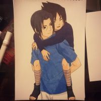 Itachi and Sasuke Uchiha by Ocraxhaydon