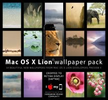 OS X Lion wallpapers for iOS by gborz