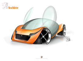 Peugeot Bubble_1st sketch by sheriffdesignstudio
