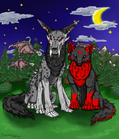 Nightmare and Kiru  - Forrest by demonashley