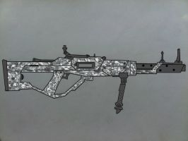 MG-52 machine gun Winter camo by Ruthie420