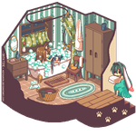 Pixel Vignette: Bath Time by hitogata