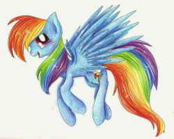 Rainbow Dash by Mufflinka