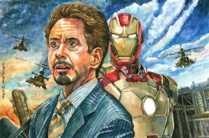 Tony Stark - Iron Man by thaomani