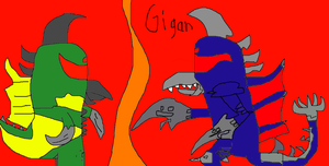 Gigan past and present by GodzillaFan1234