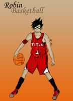 Robin basketball by lesliemint