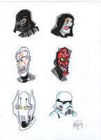 Star Wars The Dark Side character doodles by johnnyism