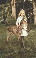 Princess with a deer by Linnea-Rose