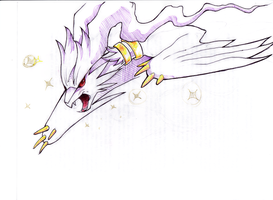 Shiny Reshiram by BASbird