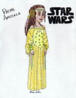 Padme Amidala - Cartoon by Jaylastar