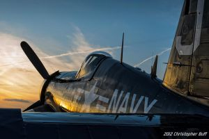 Corsair Sunset by aviationbuff