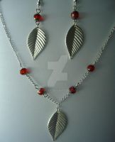Ruby Red Jewelry Set by stecky