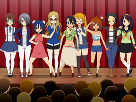 LLSIF Kisekae - N Girls from Y.G. (with exports!) by SRM-Will-Never-Die