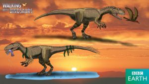 Walking with Dinosaurs: Eustreptospondylus by TrefRex