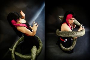 Gothica vs Snake Commission 03 by Bastetsama-Cosplay