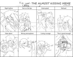 Almost Kissing Meme Bubbline version by dying-for-this