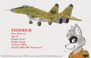 Federick and his MIG-29 by DingoPatagonico
