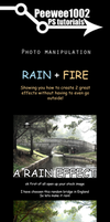 Rain and fire photomanip PS by peewee1002