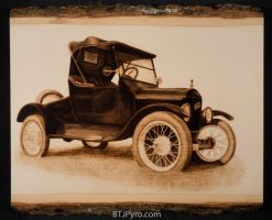 '24 Ford Model T - Woodburning by brandojones