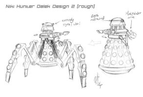 Dalek design 2 rough by Niki-UK